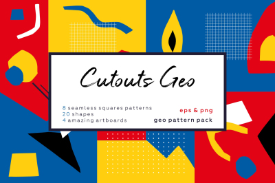 Cutouts Geometric. Vintage pattern collection