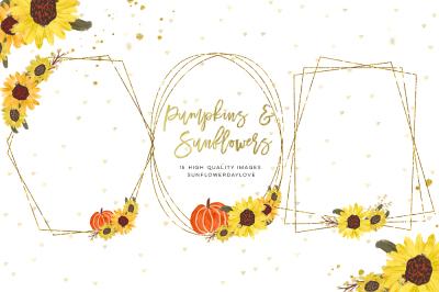 Fall Clip art, Autumn Clipart, Pumpkin Thanksgiving