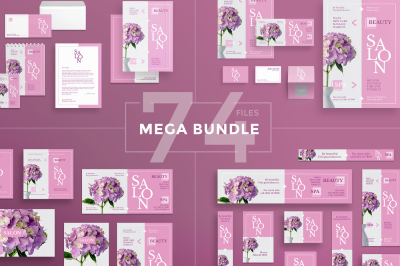 Design templates bundle | flyer, banner, branding | Beauty Salon