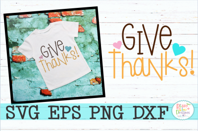 Give Thanks SVG DXF EPS PNG Cutting File
