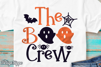 The Boo Crew SVG, Boo Crew SVG, Halloween SVG, Ghost SVG, PNG, DXF