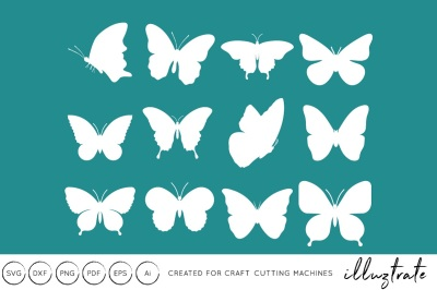 Butterflies SVG Cut File - DXF - Craft Cutting Files
