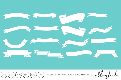 Ribbons SVG Cut File - DXF - Craft Cutting Files