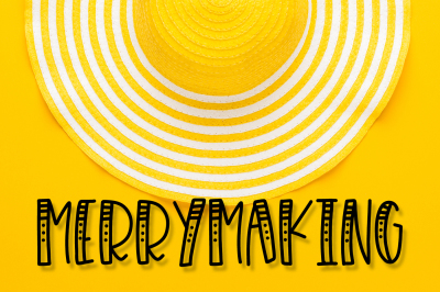 Merrymaking - a 4 styles font duo!