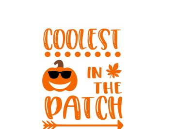 Coolest Pumpkin in the Patch svg