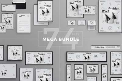 Design templates bundle | flyer, banner, branding | Fashion Week