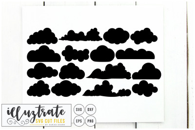 Clouds SVG Cut Files Clipart Set - dxf - vector - png