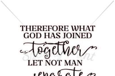 Let not man separte