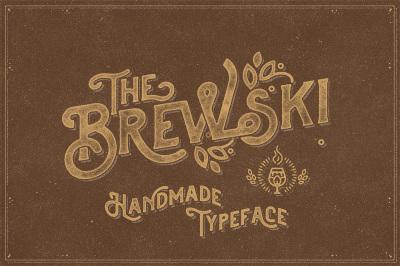 The Brewski - Textured Typeface