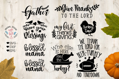 Thanksgiving Mini Bundle in SVG, DXF, EPS