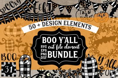 Boo Y'All Cut file Element Bundle Clip Art Bundle
