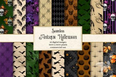 Antique Halloween Digital Paper