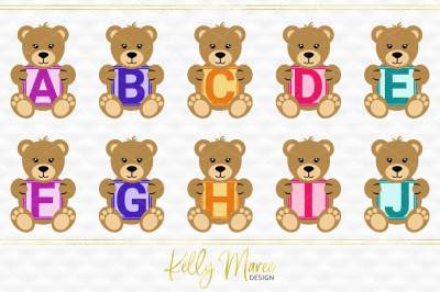 Alphabet Bear SVG Bundle