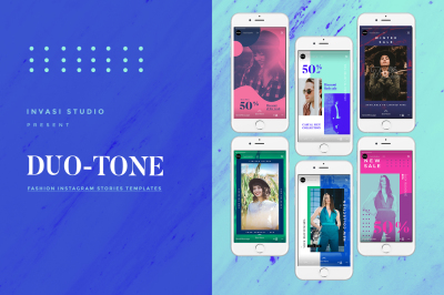 DUO TONE-Fashion Instagram Stories Templates