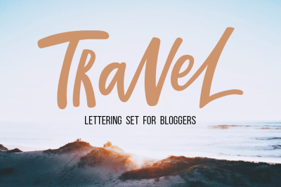Travel lettering set