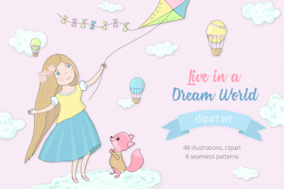 Live in a Dream World Illustration Set