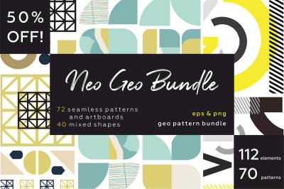 NEO GEO bundle. Geometry pattern big collection.