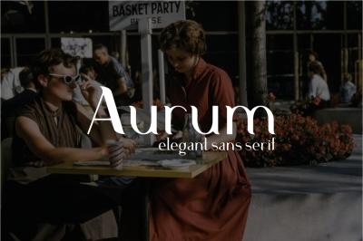 Aurum. Elegant Sans Serif typeface.