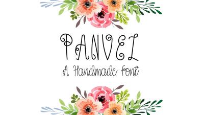 Panvel - a decorative script font