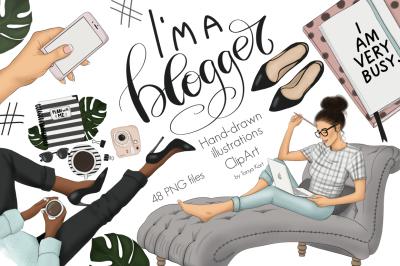 I Am A Blogger Graphic Design Kit