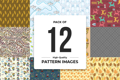 Pack Of 12 High-Quality Pattern Images