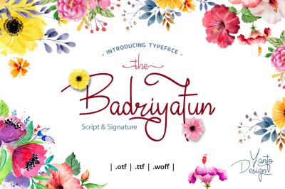 Badriyatun Script Font