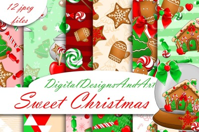 Christmas sweets papers