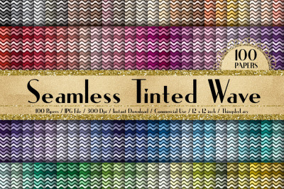 100 Seamless Seamless Tinted Wave Digital Papers 12 inch
