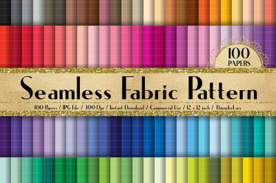 100 Seamless Fabric Pattern Digital Papers 12 inch
