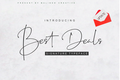 Best Deals | Signature Typeface