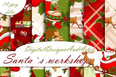 Santa`s workshop clipart
