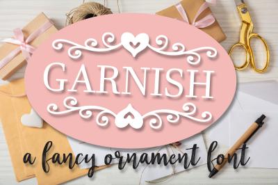 Garnish - A Fancy Ornament Font With Monogram Frames