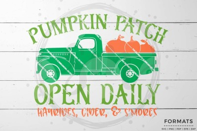 Pumpkin Patch Open Daily SVG