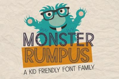New!! Monster Rumpus Font Family