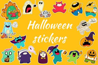 Halloween funny doodles