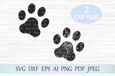 Dog paw SVG, Paw print SVG, Paw svg file, Paw cut file, Clipart