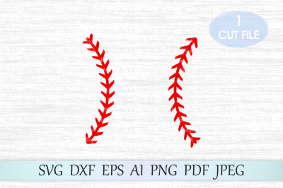 Baseball stitches svg, Baseball lace svg, Baseball svg file, Clipart