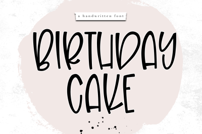 Birthday Cake - A Fun Handwritten Font