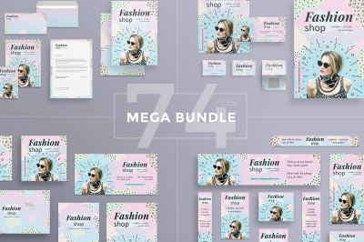 Design templates bundle | flyer, banner, branding | Fashion Shop