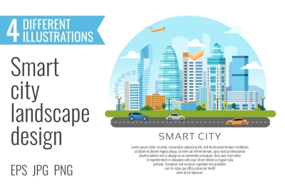 4 smart city landscape designes