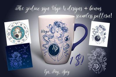 The zodiac sign Virgo.