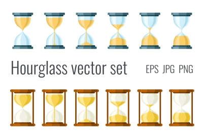 Hourglass icons set