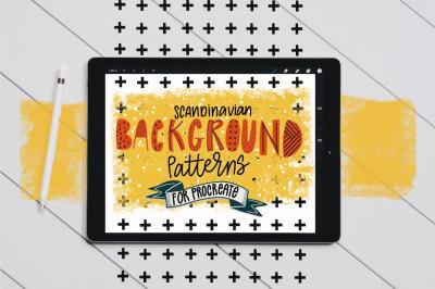 Scandinavian Background Brushes for Procreate