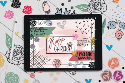 Rose Garden Stamp Brushes for Procreate