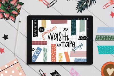 Washi Tape Stamp Brushes for Procreate