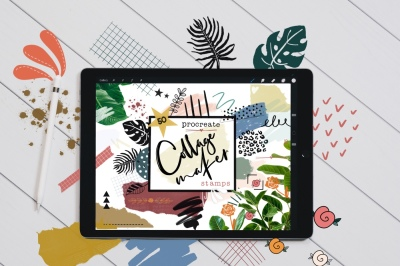 Collage Maker Stamp Brushes for Procreate