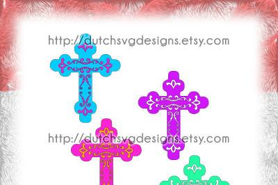Decorative religious cross cutting file, cross svg, cricut svg
