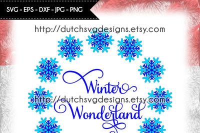 Winter Wonderland cut file, Winter Wonderland svg, cutting file
