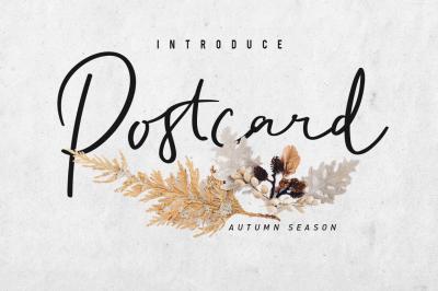 Postcard Script