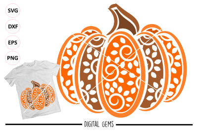 Pumpkin SVG / DXF / EPS/ PNG Files
